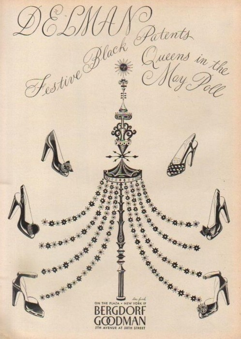 1940s Bergdorf Goodman Shoe Ad