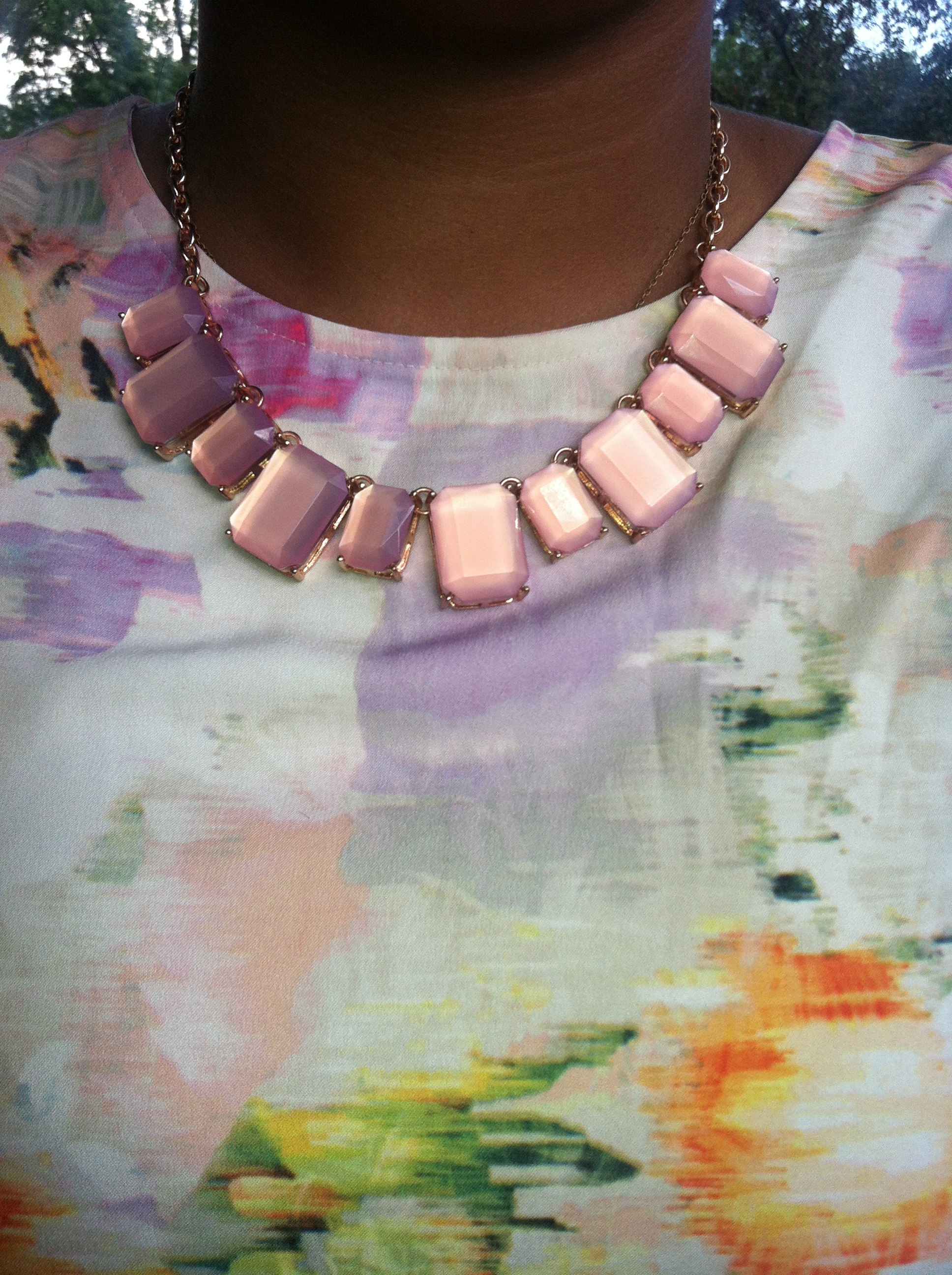 Pink statment necklace