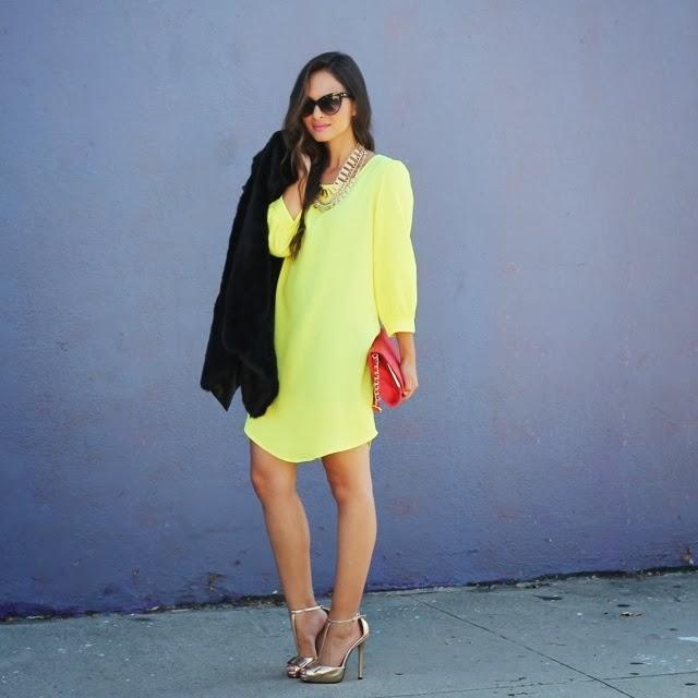 Melanee Shale yellow dress