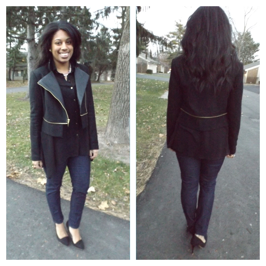 Rachel Roy Jacket front and back