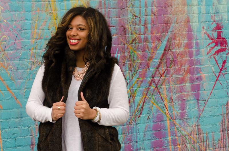 Surprisingly warm faux fur vest