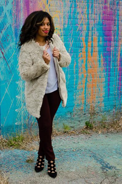 Sassy off white super soft faux fur